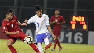 U16 Việt Nam thua đáng tiếc Ấn Độ tại giải châu Á