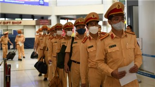 The Traffic Police Department sent troops to support Ho Chi Minh City in the prevention and control of Covid-19 epidemic