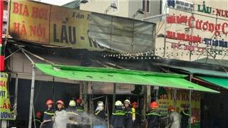Cháy quán bia trên đường Nguyễn Hữu Thọ, Hà Nội, một người thiệt mạng