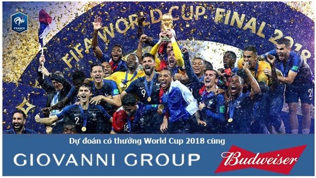 Kết quả dự đoán có thưởng trận Chung kết, hạng Ba và Đội vô địch World Cup 2018