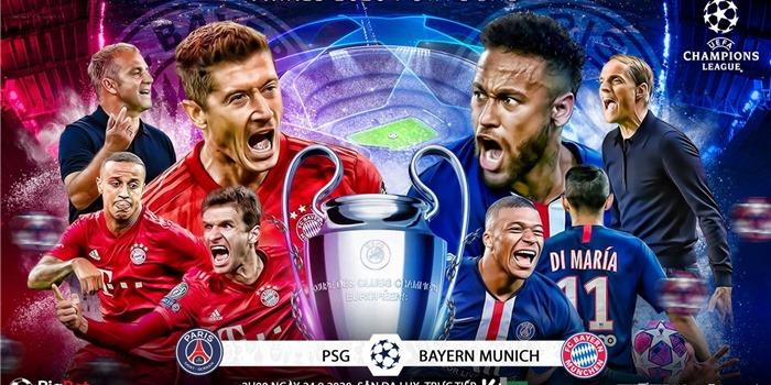 Lịch thi đấu bóng đá hôm nay 23/08: PSG vs Bayern